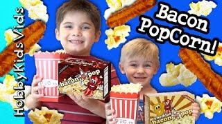 Bacon Popcorn! Hobbypig  Hobbyfrog Make And Try Bacon Popcorn By Hobbykidsvids