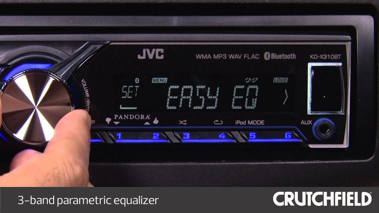 jvc kd x310bt display and controls demo crutchfield video youtube rh youtube com