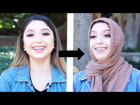 Women Try Wearing Hijabs For Hijab Day thumbnail