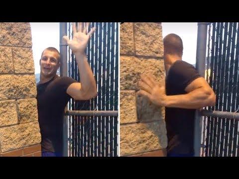 Rob Gronkowski Sneaks onto High School Football Field for Workout