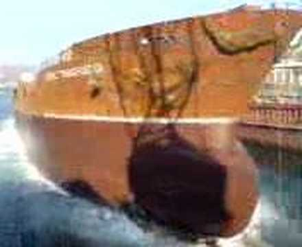 ship launching (asphalt carrier)
