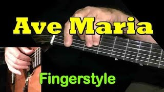 AVE MARIA (Schubert) Fingerstyle Guitar Lesson + TAB by GuitarNick