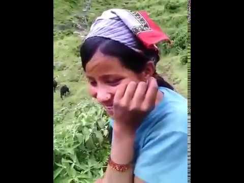 Hidden capacity Nepali girl. In village.