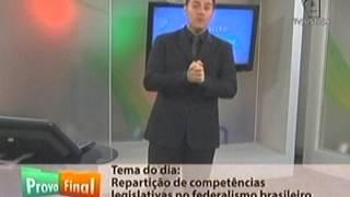 Prova Final: Repartição de Competências Legislativas no Federalismo Brasileiro