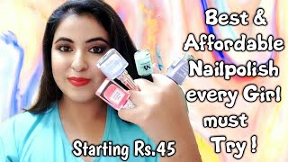 💕Best Nude Nail polish You should try 💕 Nail paint Haul | Affordable Nailpolish in India |