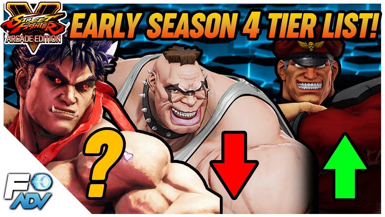 Early Sfv Season 4 Tier List Full Breakdown Street Fighter 5