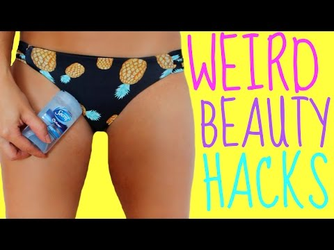 Weird Beauty Hacks Every Girl Should KNOW!!