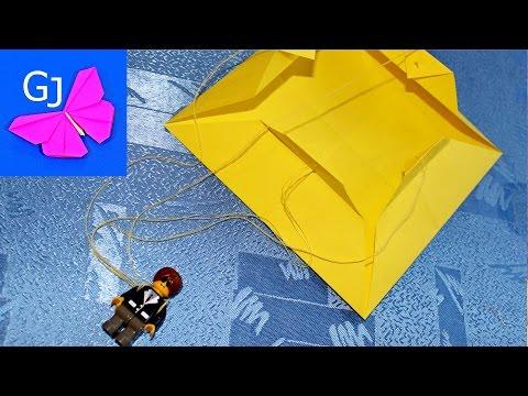 Как сделать парашют из бумаги для лего человечка