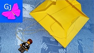 як зробити парашутиста з паперу