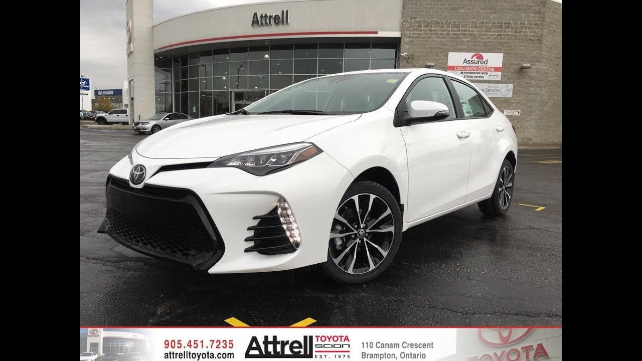 2017 toyota corolla se upgrade package brampton on attrell toyota youtube. Black Bedroom Furniture Sets. Home Design Ideas