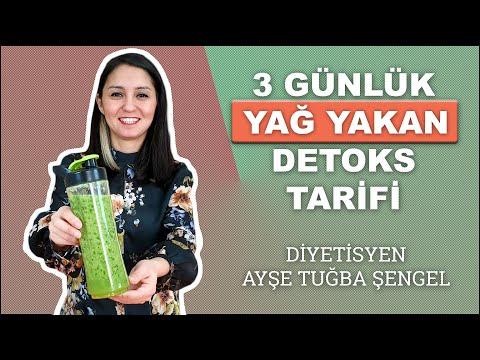 3 Günlük Yağ Yakıcı Detoks Tarifi - Diyetisyen Ayşe Tuğba Şengel