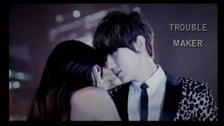 Trouble Maker - Hyuna & Hyun Seung ( Karaoke / Lyrics )