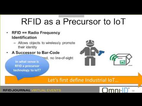 Webinar: The Journey from Industrial RFID to the Industrial Internet of Things