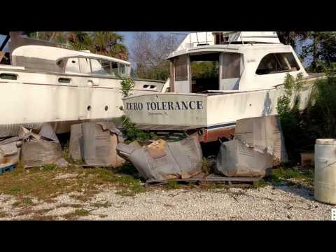 Old Boats Laid To Rest in Hernando Beach, FL.