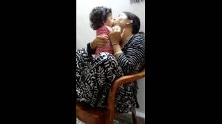 8 months old son kissing his mom So sweet