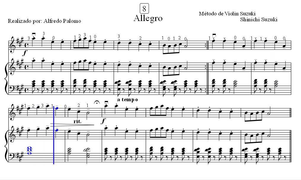 Allegro Suzuki Piano Book