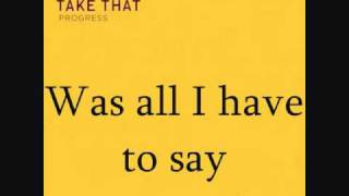 Baixar - Take That Eight Letters Progress Album Lyrics Grátis