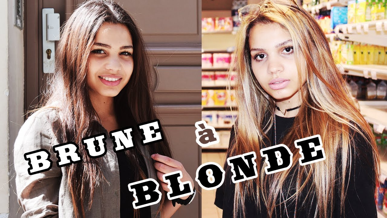 passer de brune À blonde simplement (balayage) - youtube