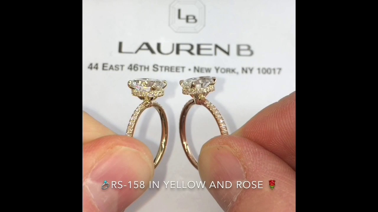 Oval Diamond Engagement Rings: Yellow Vs Rose Gold