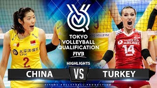 China Vs Turkey | Highlights | Women's Volleyball Olympic Qualifying Tournament 2019