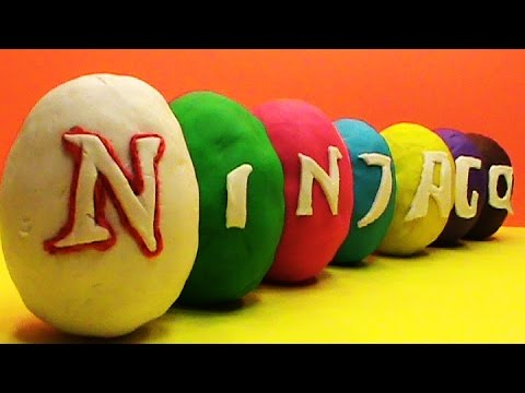 Ninjago Play Doh surprise eggs sorpresa modela juguetes huevos
