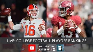 CFP Rankings LIVE – Top 25 Teams In Third College Football Playoff Rankings