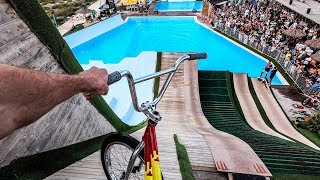 JE TEST LE WATER JUMP EN BMX ! ft Scoot2street , RidingZone