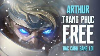 TRANG PHỤC FREE Arthur Đặc Cảnh Băng Lôi | Săn lùng quái vật - Garena Liên Quân Mobile