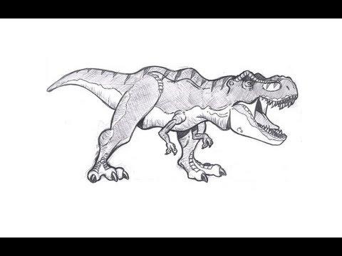 Como Desenhar Um Tiranossauro Rex Vers 227 O Infatil Youtube