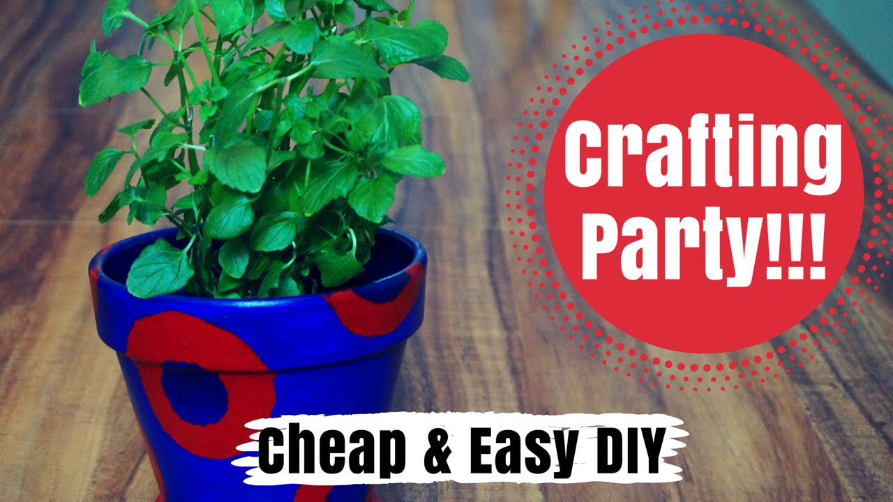 Painting Flower Pots Cheap Easy Crafts Youtube