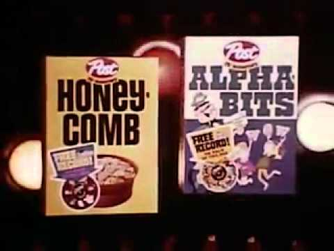 Vintage Old 1970s Post Alpha Bits And Honeycombs Cereal Commercial