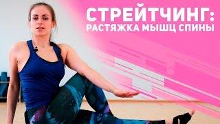Стретчинг: растяжка мышц спины и талии [Фитнес Подруга]