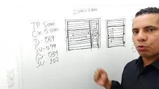 Como Fazer um Portão Basculante com Social Embutido (Perfis + Explicação) I FABIANO CARVALHO