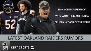 Raiders Signing RB? Raiders Rumors: Won Khalil Mack Trade, Colin Kaepernick To Oakland, Gruden COTY