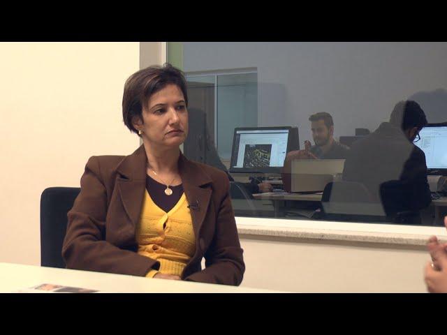 Entrevista com Jaqueline Coutinho na redação do jornal Cruzeiro do Sul
