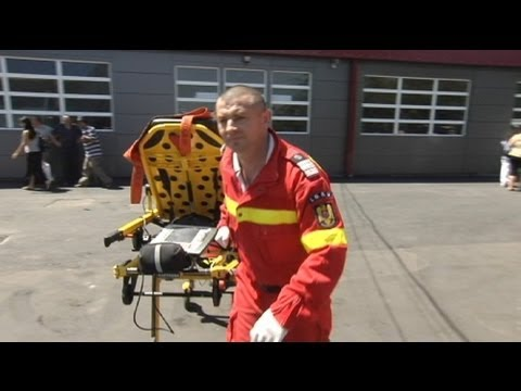 euronews reporter - Romania's 'Men in Red' to the rescue