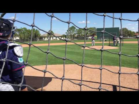 Miguel Sano takes live BP off reinvented LHP Craig Breslow