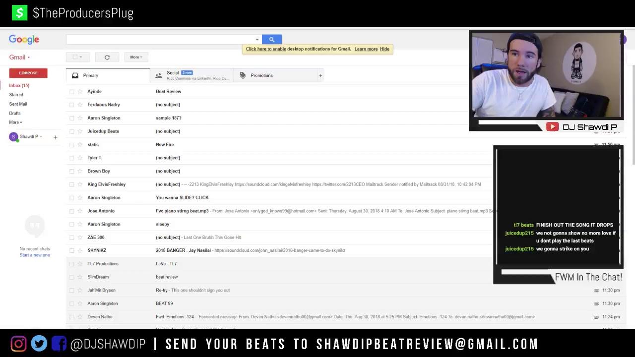DJ SHAWDI P LIVE BEAT REVIEW! 8/31 - YouTube