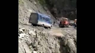 Дагестан. Размыв на дороге.