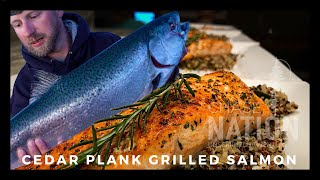 BEST CEDAR PLANK SALMON Recipe - Wild Caught King Salmon (Lake Michigan)