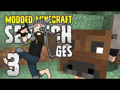 Minecraft SevTech: Ages | 3 | BUFFALO DANCE!! | Modded Minecraft 1.12.2