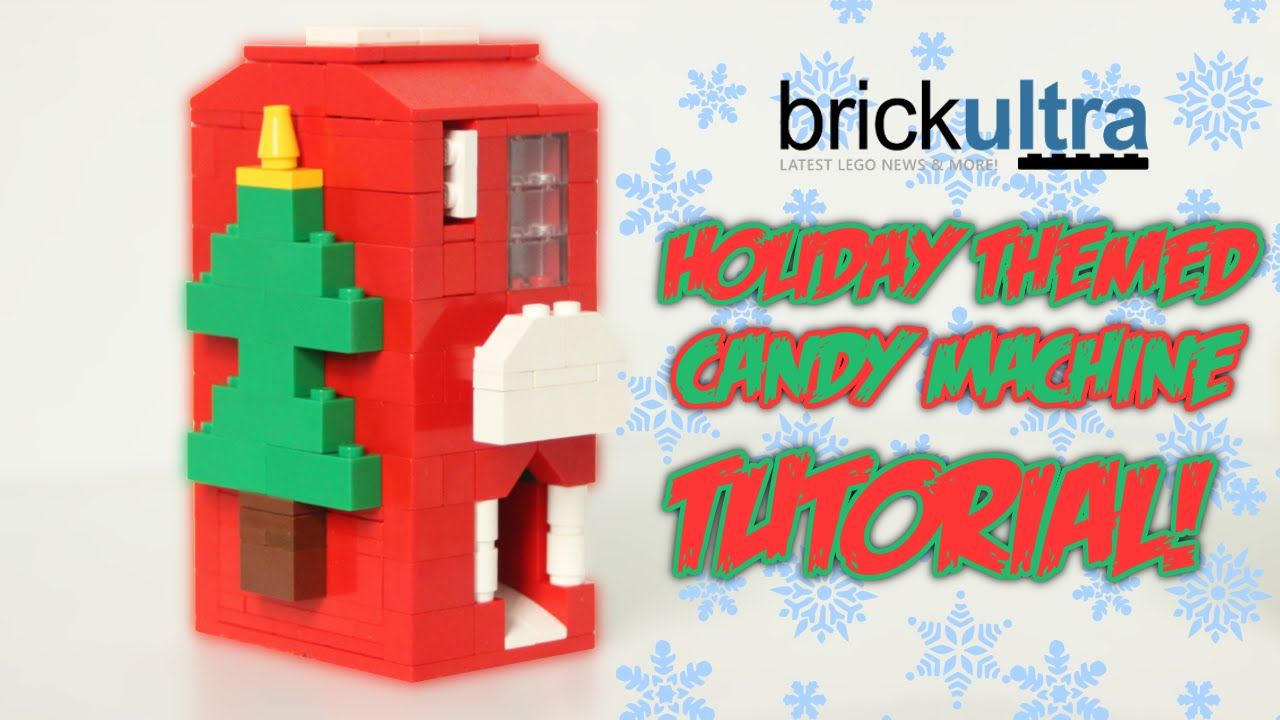 Holiday Themed Lego Candy Machine Tutorial Instructions Youtube