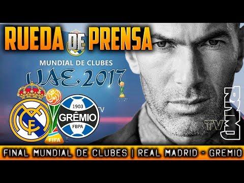 Real Madrid - Gremio Rueda de prensa Zidane FINAL Mundial de Clubes 2017 (16/12/2017)