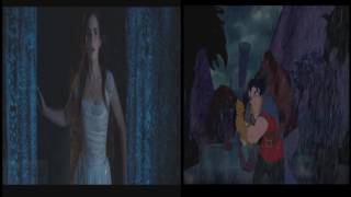 Beauty and the Beast Gaston Fights 2017 vs 1991