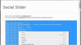 Facebook Likebox/Twitter Slider