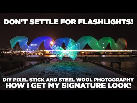 Light Stick and steel wool photography  shooting and editing. Step by step guide.