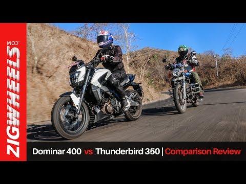 Bajaj Dominar 400 vs Royal Enfield Thunderbird 350 | Comparison Review| ZigWheels.com