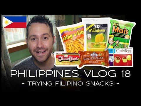 Trying Filipino Snacks - PHILIPPINES VLOG 18