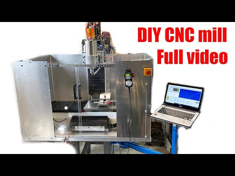 DIY CNC Mill Full Build Video ( Part 1-5 All In One Video ) Part List & Measurements In Description