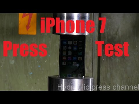 iPhone 7 press test with hydraulic press